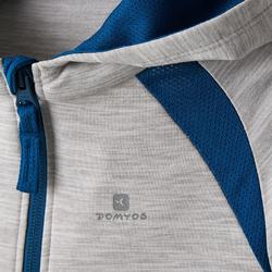 Veste capuche S500 Baby Gym gris clair