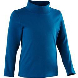 Set van 2 T-shirts met lange mouwen voor peuter- en kleutergym 500 grijs blauw
