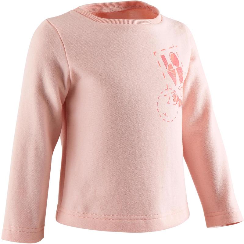 Sudadera Gimnasia Infantil 100 Rosa