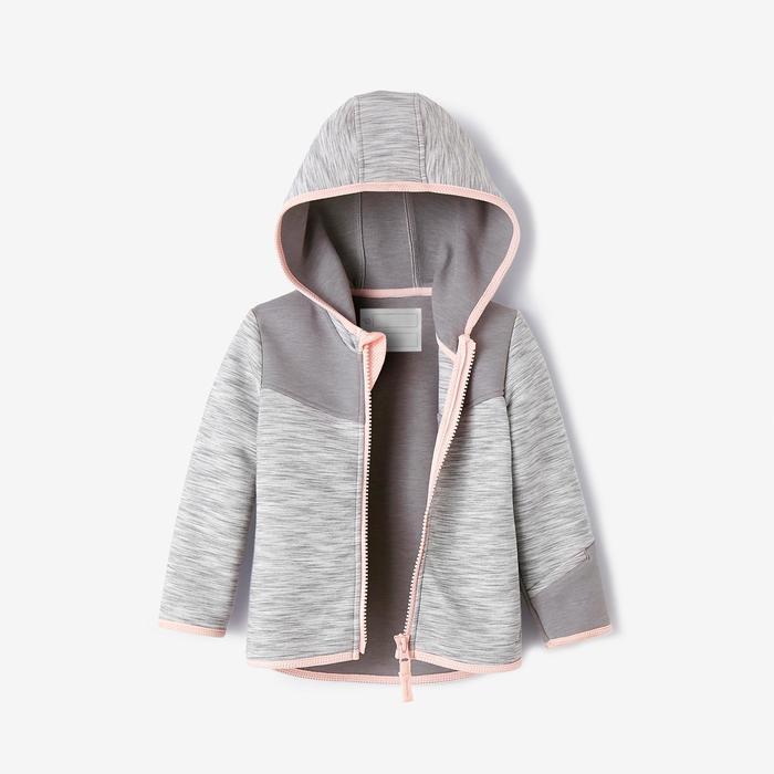 Vest 500 kleutergym grijs/roze