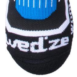Skisokken kinderen 500 zwart/blauw