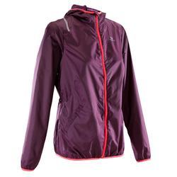 Dames windjack voor jogging Run Wind bordeaux