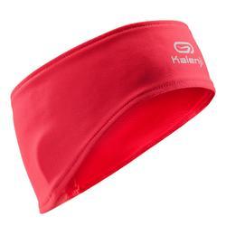 Warme hoofdband voor hardlopen roze