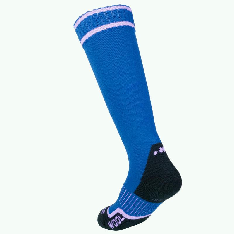 ถุงเท้าใส่เล่นสกีสำหรับเด็กรุ่น 100 (สีน้ำเงิน)