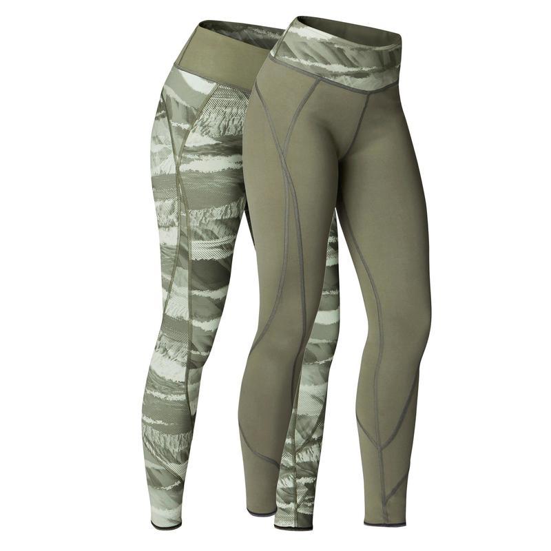 meilleures offres sur premier taux nouveau design Vêtements yoga femme - Legging réversible YOGA+ 920 femme kaki