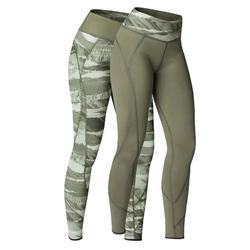 Omkeerbare legging Yoga+ 920 voor dames kaki