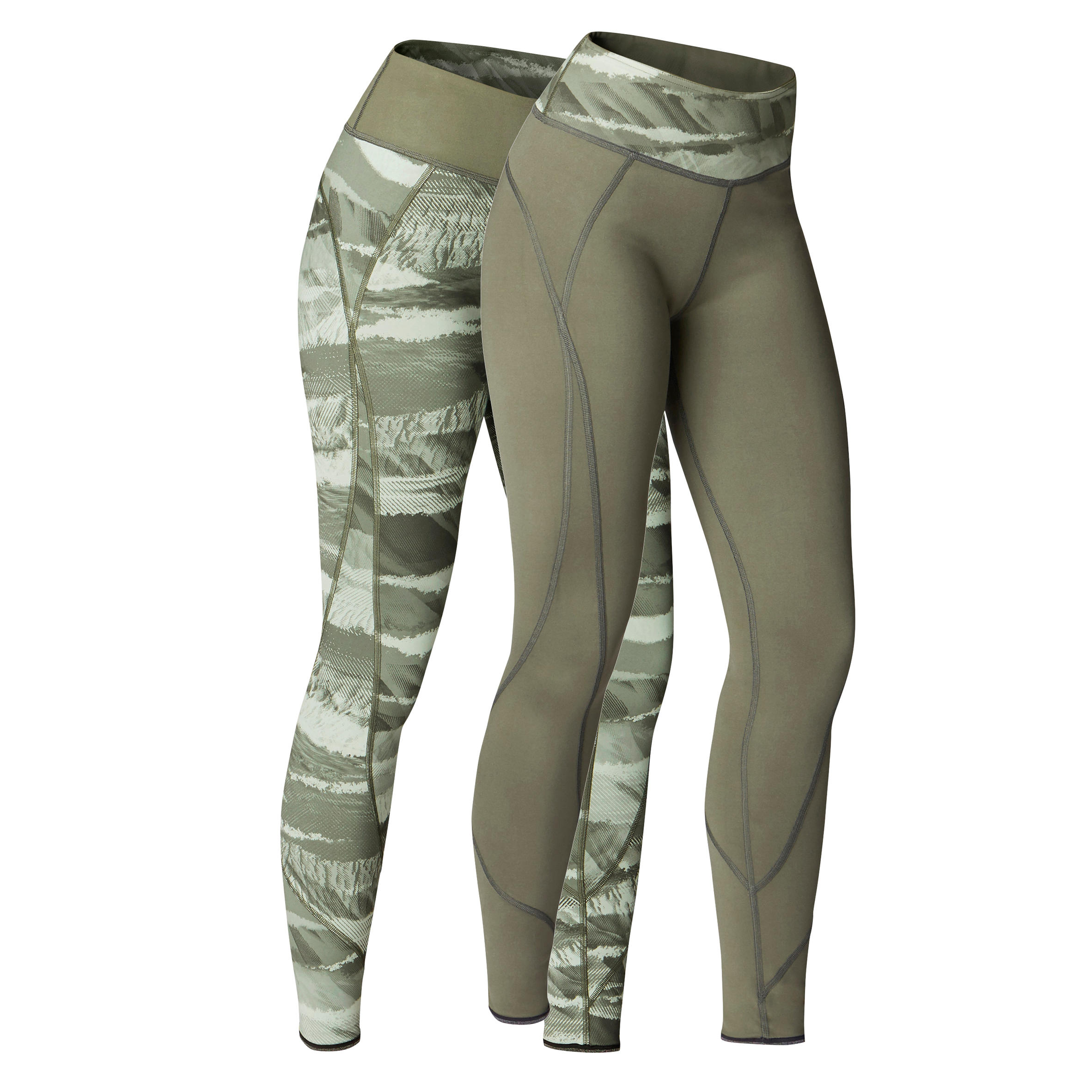 Yoga+ 920 Women's Reversible Leggings - Khaki