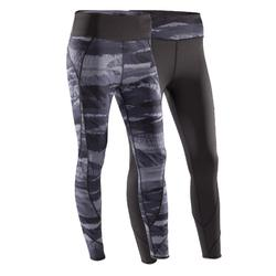 Yoga+ 920 Women's Reversible Leggings - Black/White Print