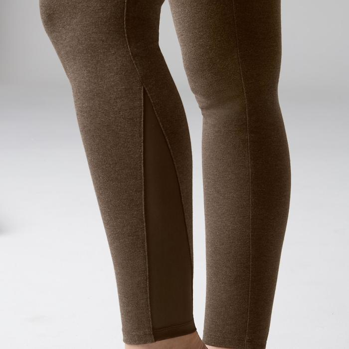 Leggings 520 slim gimnasia stretching mujer caqui