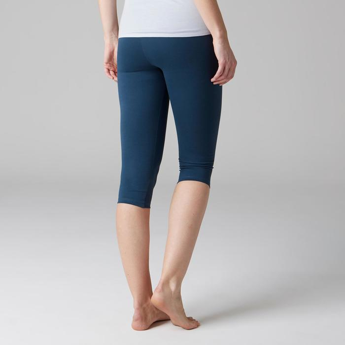 3/4-Hose Slim 900 Gym Stretching & Pilates Damen dunkelblau
