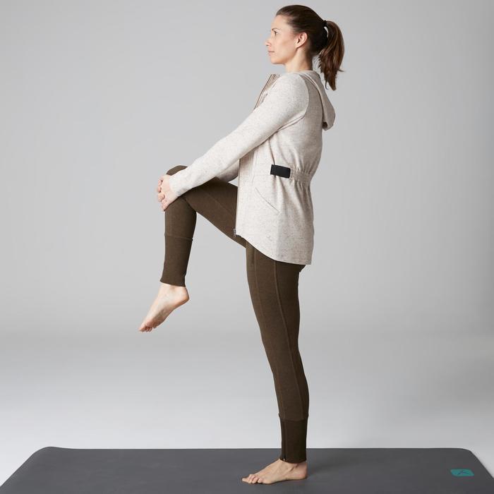 Pantalon 920 Gym & Pilates femme bas zippé gris chiné moyen - 1503077