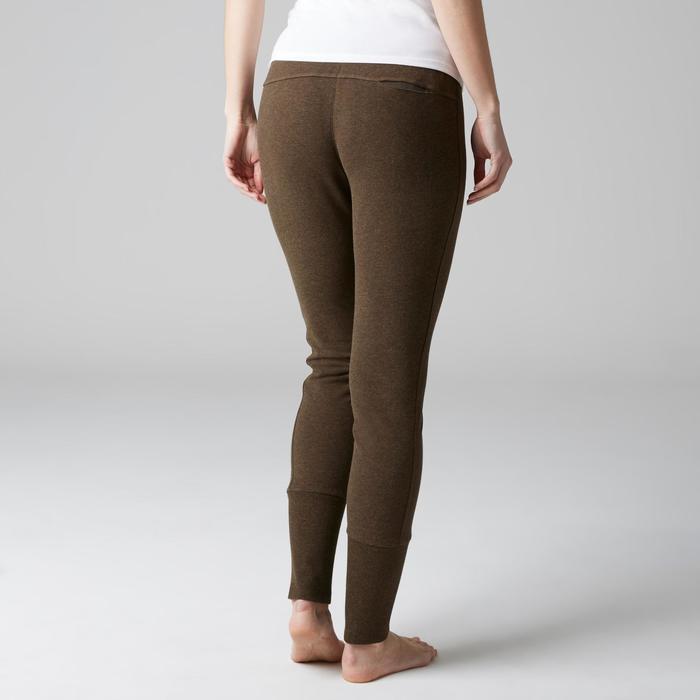 Pantalon 920 Gym & Pilates femme bas zippé gris chiné moyen - 1503081