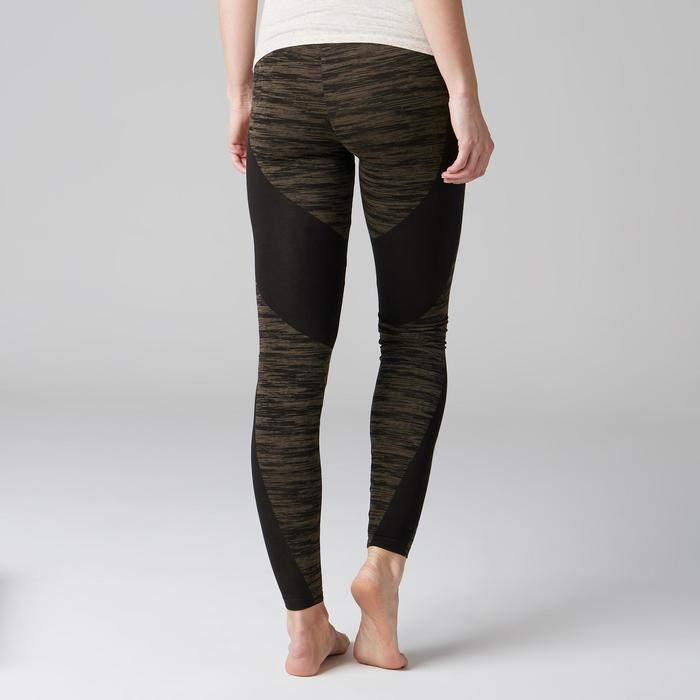 Legging FIT+ 500 slim Gym Stretching femme noir/kaki AOP