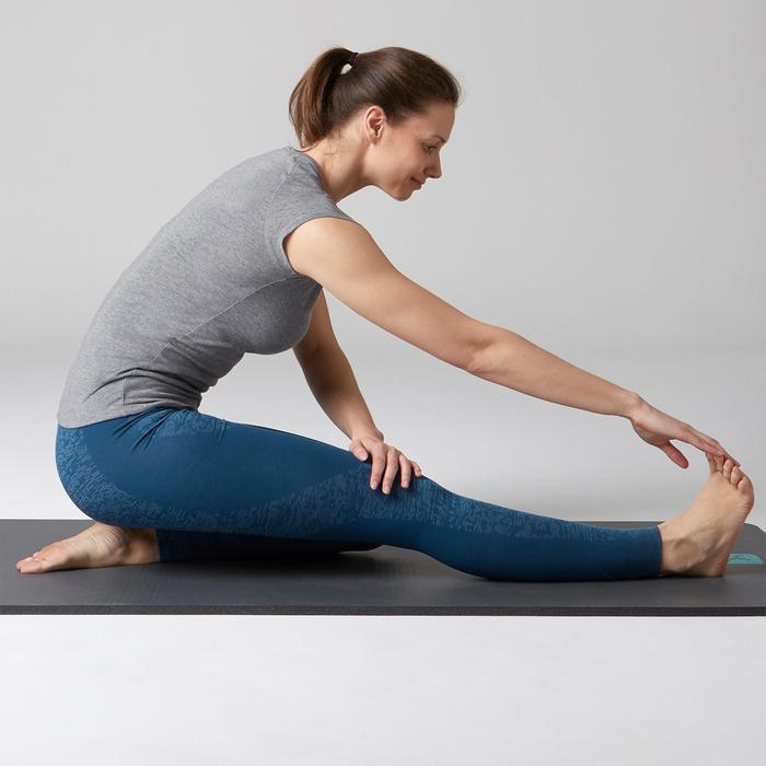 Leggings FIT+ 500 Slim Gym Stretching Damen blau