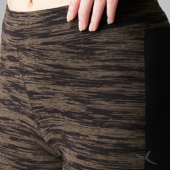 Legging FIT+ 500 slim Gym Stretching femme AOP - 1503112