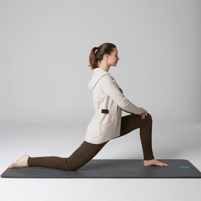 Pantalon 920 Gym & Pilates femme bas zippé gris chiné moyen - 1503127