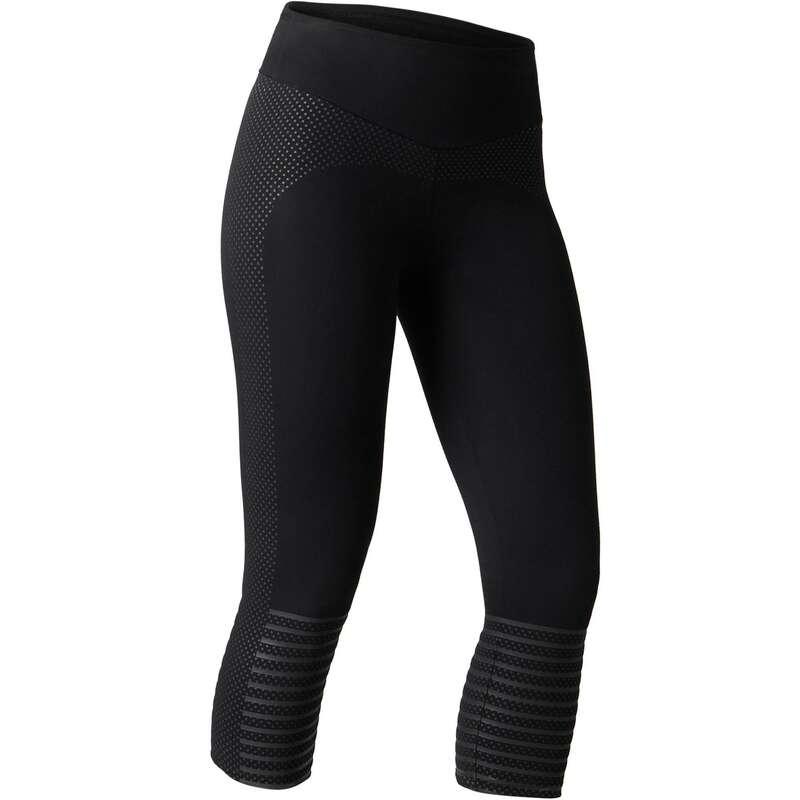 T-SHIRT, LEGGINGS, SHORT DONNA Ginnastica, Pilates - Leggings 7/8 donna 900 neri NYAMBA - Abbigliamento donna