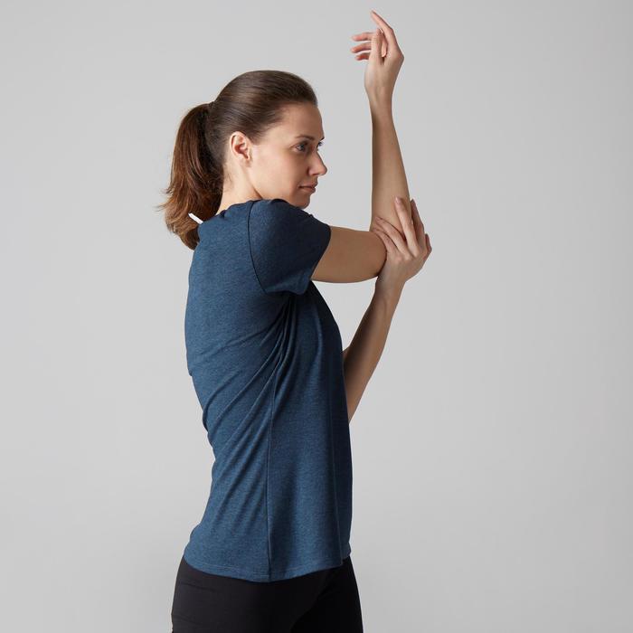 T-Shirt 500 régular manches courtes Gym & Pilates femme chiné - 1503180