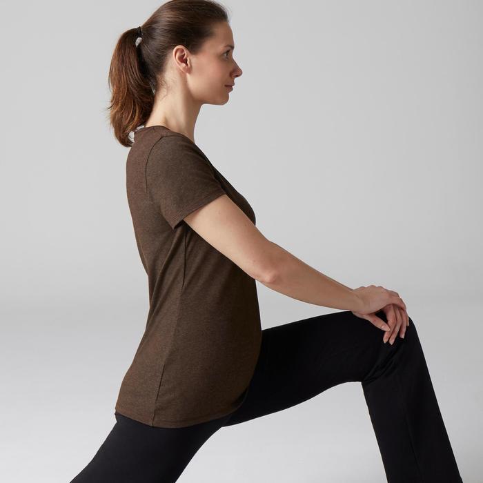 T-Shirt 500 régular manches courtes Gym & Pilates femme chiné - 1503212