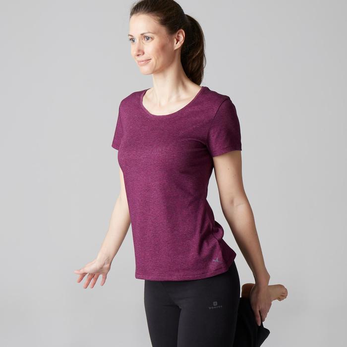 T-Shirt 500 régular manches courtes Gym & Pilates femme chiné - 1503218