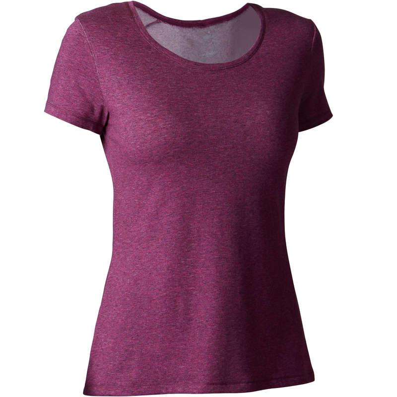 WOMAN T SHIRT LEGGING SHORT Clothing - 500 Regular-Fit Gym T-Shirt NYAMBA - Tops