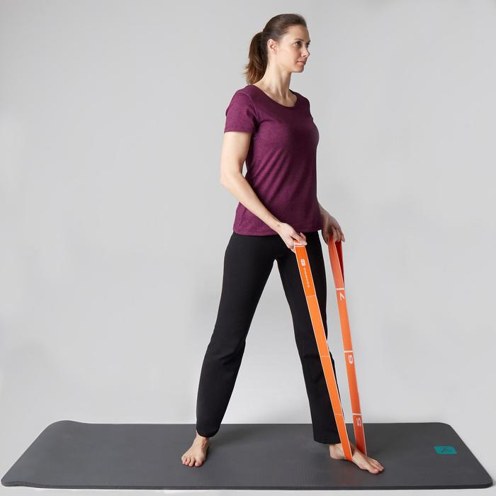 T-shirt 500 regular Gym Stretching femme violet chiné
