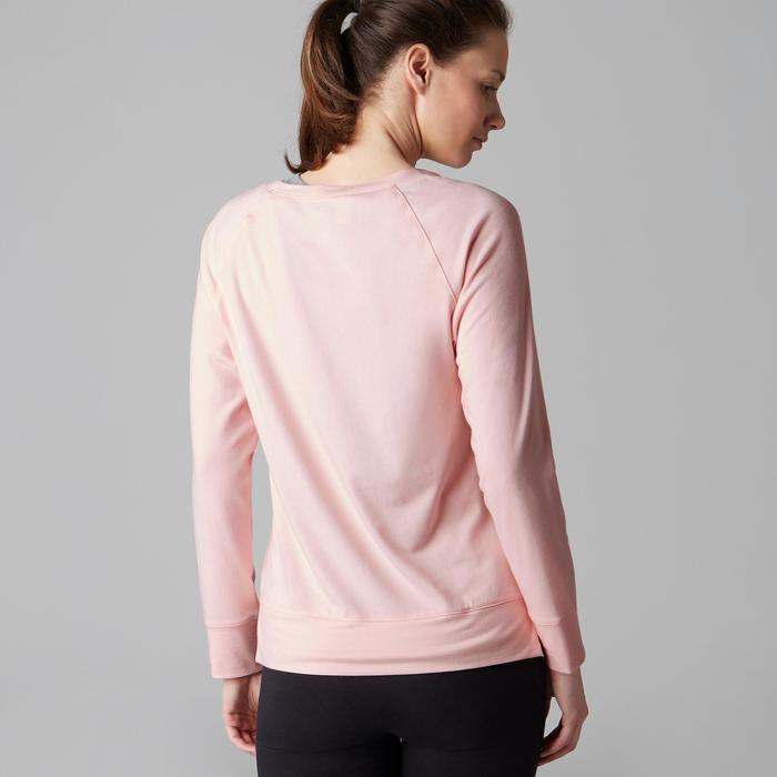 Camiseta De Manga Larga Gimnasia Y Pilates Domyos 500 Mujer Rosa Estampado