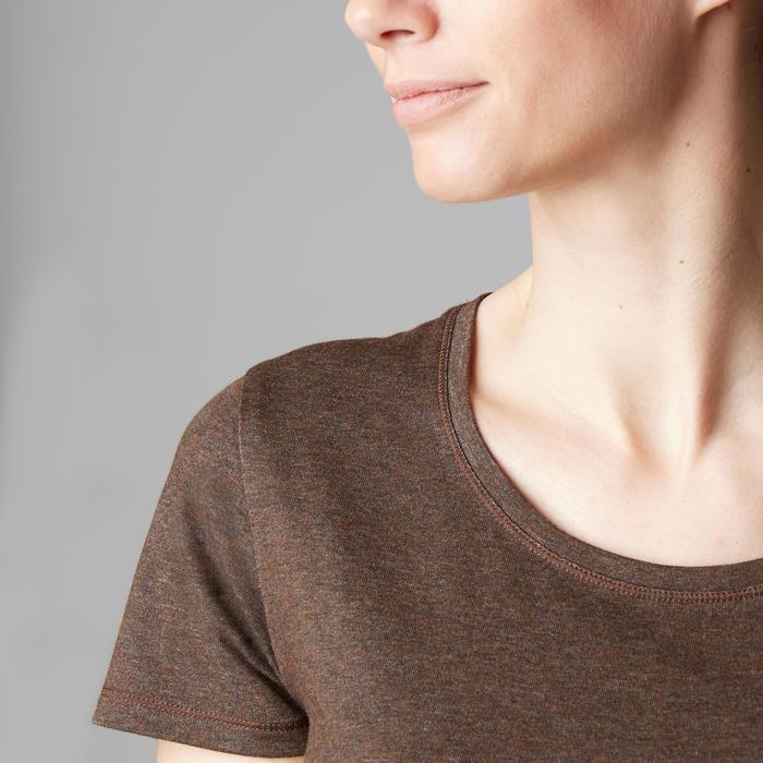 T-Shirt 500 régular manches courtes Gym & Pilates femme chiné - 1503272
