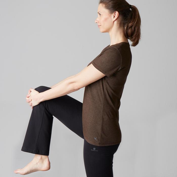 T-Shirt 500 régular manches courtes Gym & Pilates femme chiné - 1503302