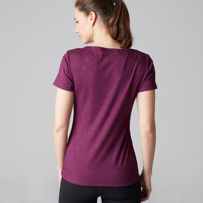T-Shirt 500 régular manches courtes Gym & Pilates femme chiné - 1503317