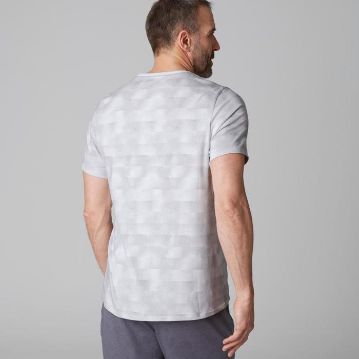 T-Shirt 520 regular col rond Gym & Pilates AOP homme - 1503343