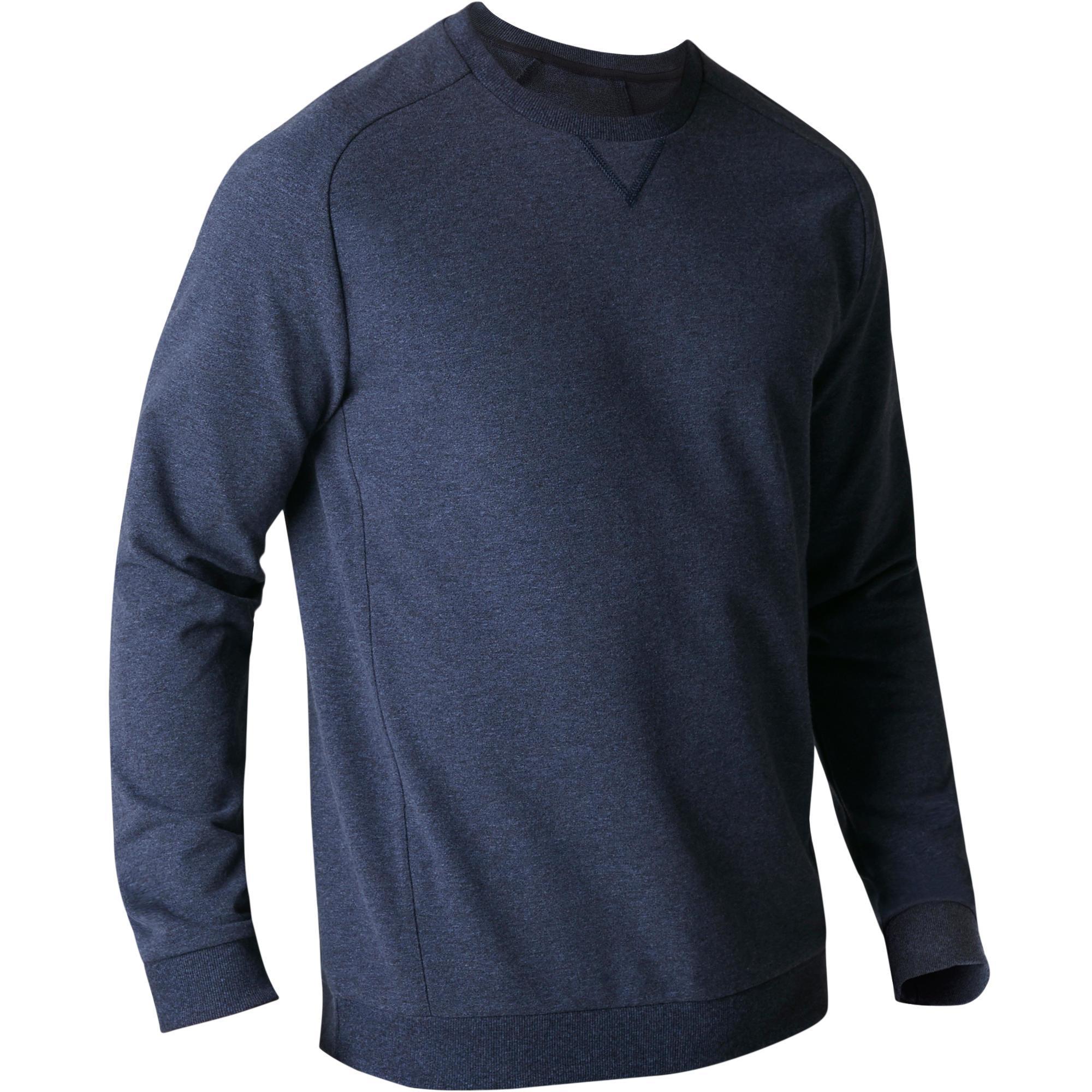 Copaya Herensweater 500 voor gym en stretching blauw