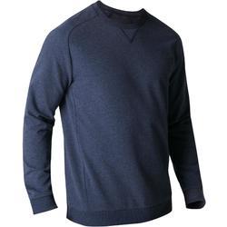 Herensweater 500 voor gym en stretching, blauw