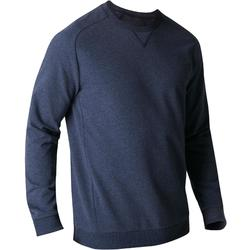 Sweatshirt 500 Gym Stretching Herren blau