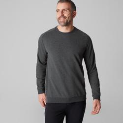 Herensweater voor pilates en lichte gym 500 donkergrijs
