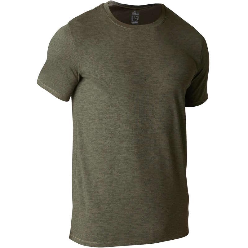 MAN GYM, PILATES APPAREL - 500 Regular Gym T-Shirt Khaki NYAMBA