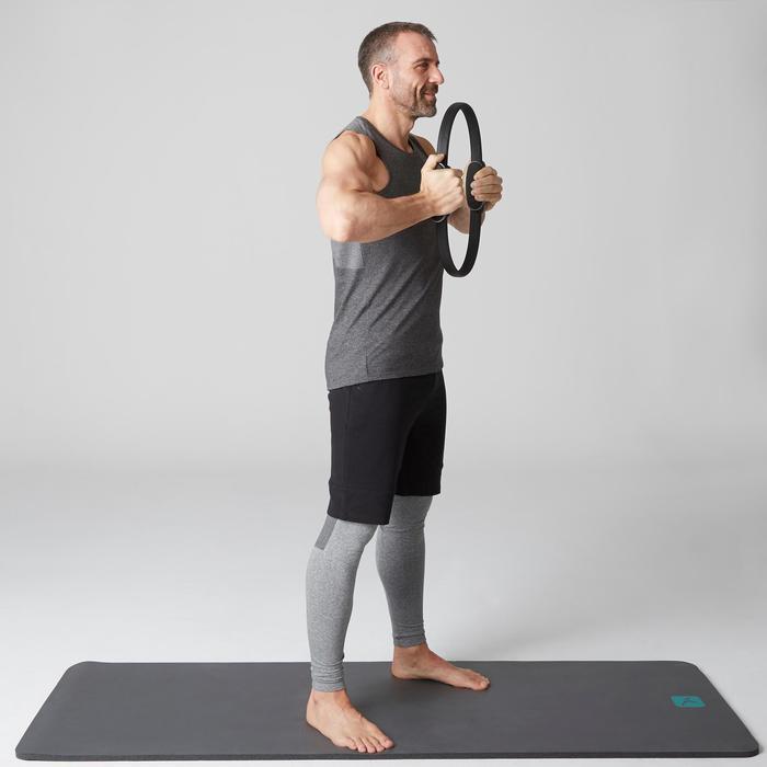 Débardeur 900 slim Gym Stretching & Pilates homme gris foncé chiné - 1503366