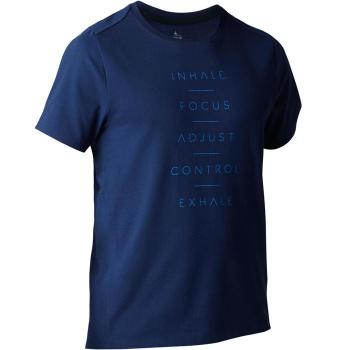 T-Shirt 520 regular col rond Gym & Pilates AOP homme - 1503373