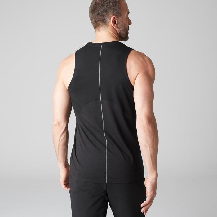 Camiseta sin mangas 900 slim Gimnasia Stretching y Pilates negro hombre