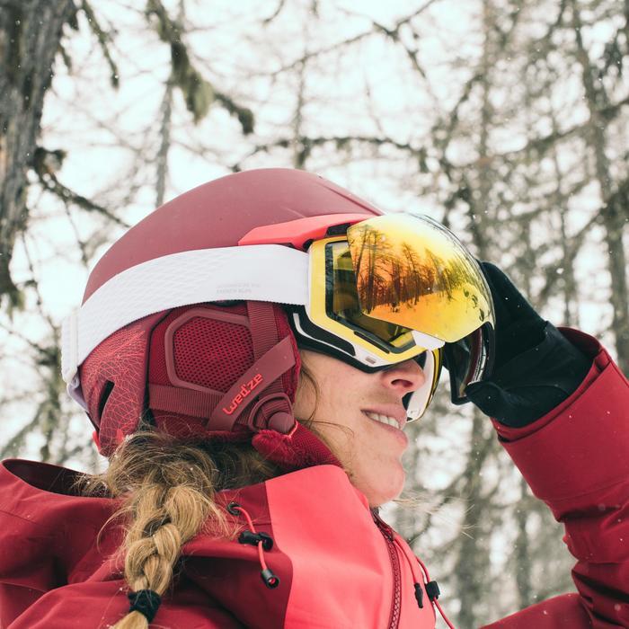 MASQUE DE SKI ET DE SNOWBOARD ADULTE ET ENFANT G 520 I BLANC