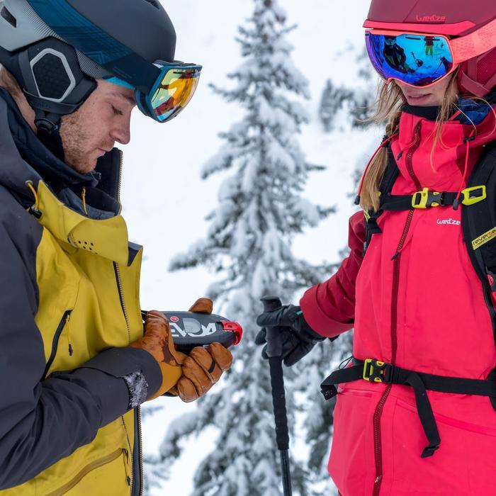 Chaqueta de esquí freeride mujer SFR 900 burdeos rosa