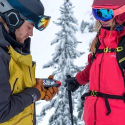 Veste de ski freeride femme FR900 bordeaux rose