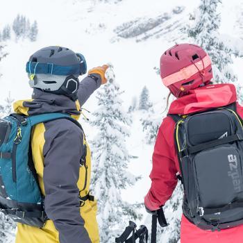 Sac à dos de ski de randonnée, RVS FR 500, pétrole - 1503429