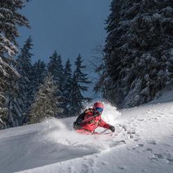 Pantalon de ski freeride femme SFR 900 bordeaux