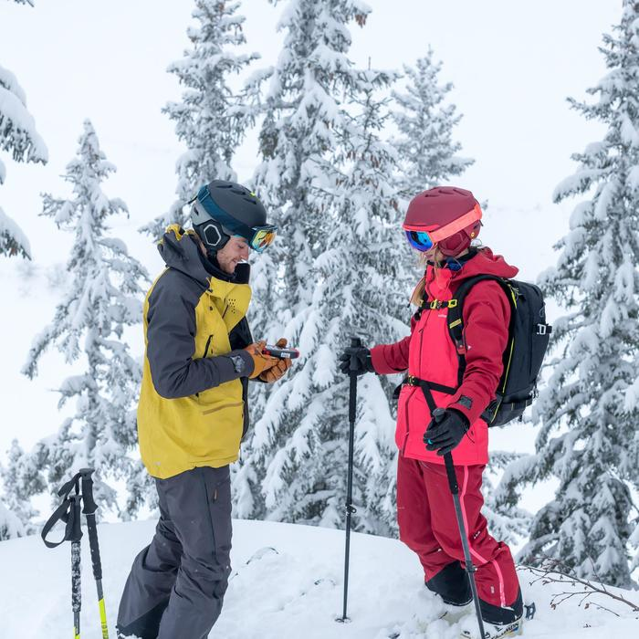Skijacke Freeride SFR 900 Herren grau ocker