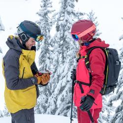 女款自由式滑雪外套FR900 - 栗紅色粉色