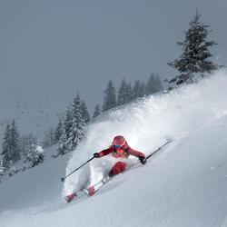 Chaqueta de esquí freeride mujer FR900 burdeos rosa