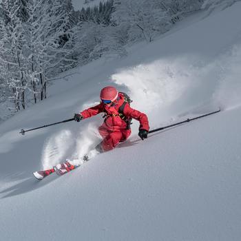 Veste de ski freeride femme SFR 900 bordeaux rose