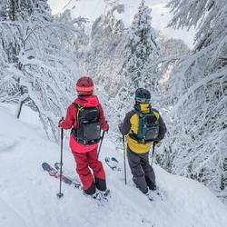Chaqueta de esquí freeride hombre SFR 900 gris ocre