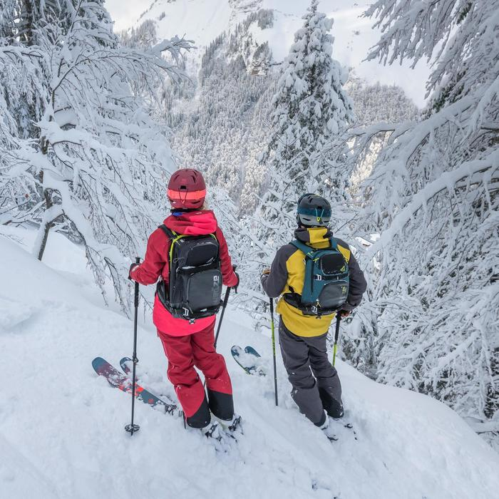 Dames skibroek voor freeride 900 bordeaux